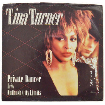 Vintage 80s Tina Turner Private Dancer Pop Rock 45 RPM Single Record Vinyl