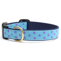 Purple Dots Dog Collar