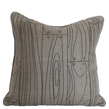 "Wood Grain 18x18"" Printed Linen Pillow"