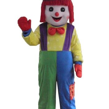 Giggles The Clown Mascot Adult Costumes Birthday Party Clown Suit