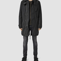 ALLSAINTS US: Mens Rhyl Parka Coat (Black)