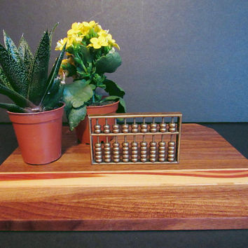 Vintage Mini Brass Abacus, Collectible Brass Figurine