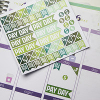 60+ Pay Day Finance Die-Cut Stickers // (Perfect for Erin Condren Life Planners)