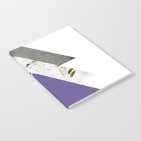 Ultra Violet Blossoms Arrows Notebook by byjwp