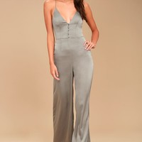 Finders Keepers Spectral Sage Green Jumpsuit