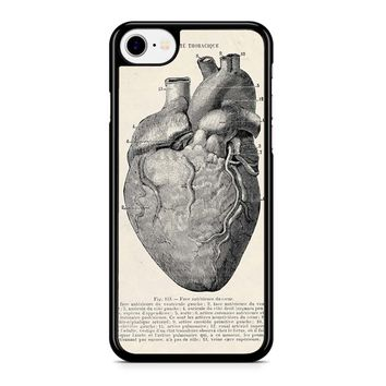 Heart Anatomy Vintage iPhone 8 Case