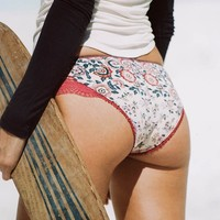Elle Lace Brief - Rosewood