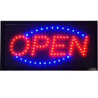 "Bright Animated LED Open Store Shop Business Sign 19x10"" neon Display Lights"