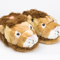 Lion Animal Slippers | Cat & Big Cat Slippers | BunnySlippers.com
