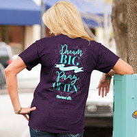Cherished Girl Dream Big & Pray Often Girlie Christian Bright T Shirt