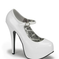 Bordello White Patent Mary Jane Stilettos