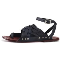 Free People for Women: Belize Black Sandals