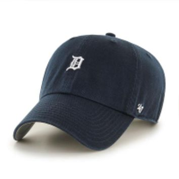 DCCKG8Q MLB 47 Brand Detroit Tigers Navy Abate Clean Up Hat