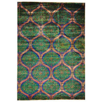 Suzani Design Sari Silk Hand-knotted Oriental Area Rug (9'10 x 14'1) | Overstock.com Shopping - The Best Deals on One Of A Kind Rugs