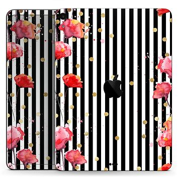 """Karamfila Watercolo Poppies V28 - Full Body Skin Decal for the Apple iPad Pro 12.9"""", 11"""", 10.5"""", 9.7"""", Air or Mini (All Models Available)"""
