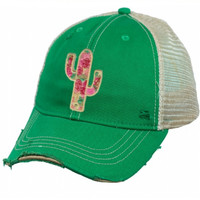 Rose Cactus Hat- GREEN