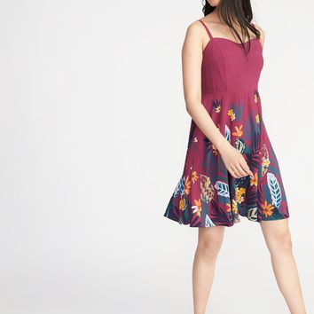 Fit & Flare Cami Dress for Women |old-navy