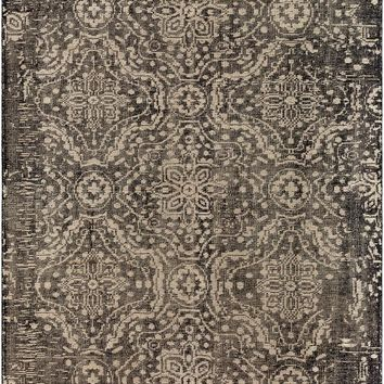 Surya Hoboken Medallions and Damask Black HOO-1012 Area Rug