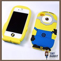 3D Despicable Me II Minions Style Silicone Case for iPhone 5 & 5S (Blue)