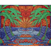 Handmade 100% Cotton 3D Epic Surf Tapestry Throw Tablecloth Spread Twin 60x90