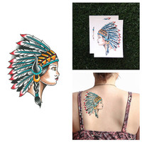 Headdress - Temporary Tattoo (Set of 2)