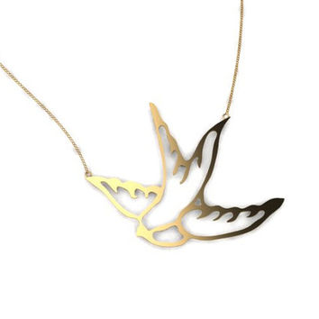 lovely bird necklace