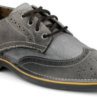 Sperry Top-Sider Cloud Logo Harbor Leather Wingtip Oxford GrayLeather, Size 7M  Men's Shoes