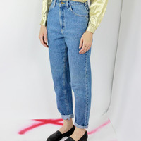 vtg 90s lee jeans mom jeans tapered jeans high waisted high rise denim sm small s med medium m