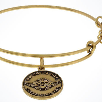 Disney Parks Star Wars Yoda Gold Bangle Bracelet Charm By Alex & Ani