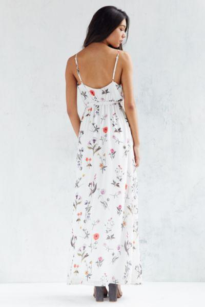 Oh My Love Floral Chiffon Maxi Dress From Urban Outfitters