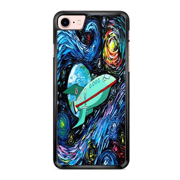 Futurama Art Planet Express Starry Night iPhone 7 Case