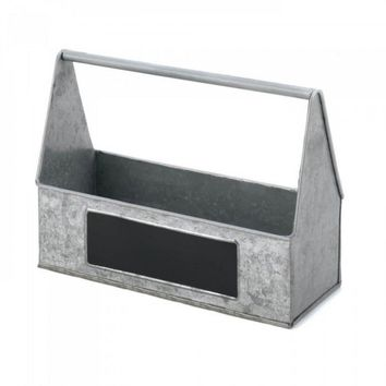 Galvanized Metal Picnic Caddy