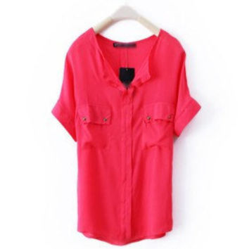 Casual Style Shirt - red