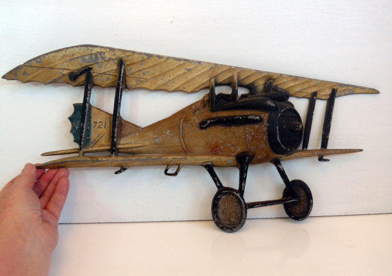 Vintage Plane Wall Decor : Vintage sexton mid century biplane from fourthestatesale