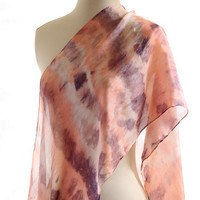 Pink Lilac scarf, naturally dyed scarf, shibori hand dyed shawl, logwood madder, stripe silk scarf, christmas gift for her, romantic scarf