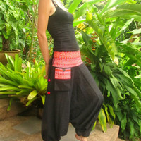 Harem Alibaba Flare Pants Trousers Yoga Hippie Boho Gypsy Psy trance Travel | eBay