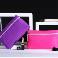candy color Quilted Lining cosmetic bag waterproof Travel wash bag Make up Bag for women = 1958610052