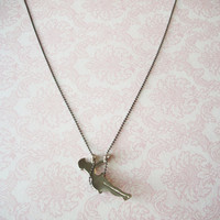 Handmade Silver Swinging Girl Necklace