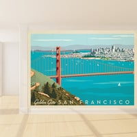 Anderson Design Group's Golden Gate Mural wall decal