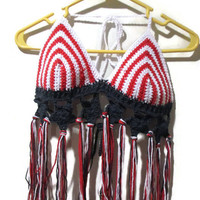 Stars and stripes festival top with tassels