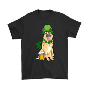 PEAPV4S German Shepherd Luck Dog Saint Patrick's Day Dog With Beer Shirts