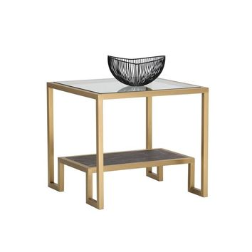 CARMEN GOLD SIDE TABLE