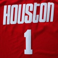 Copy of White Tracy McGrady #1 Houston Rockets Adidas Throwback Jersey
