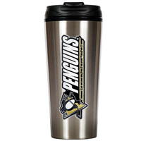NHL Pittsburgh Penguins Slim Stainless Steel Travel Tumbler