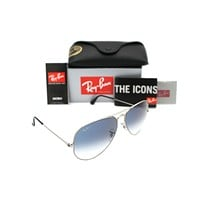 Ray Ban Aviator 3025 RB3025 003/3f 55mm Silver Frame w/ Blue Gradient Lens Small