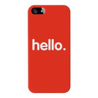 Hello Full Wrap High Quality 3D Printed Case for Apple iPhone 5 / 5s by textGuy