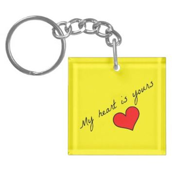 My Heart Is Yours Keychain