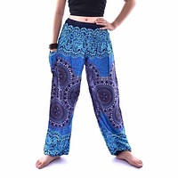 Women Thai Harem Trousers Boho Festival Hippy Smock High Waist Yoga Pants