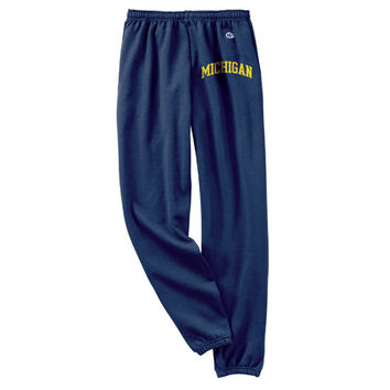 Champion University of Michigan Navy Basic Thigh Print Sweatpant