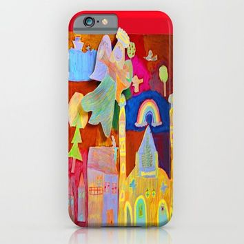 Rainbow Angel iPhone & iPod Case by Azima